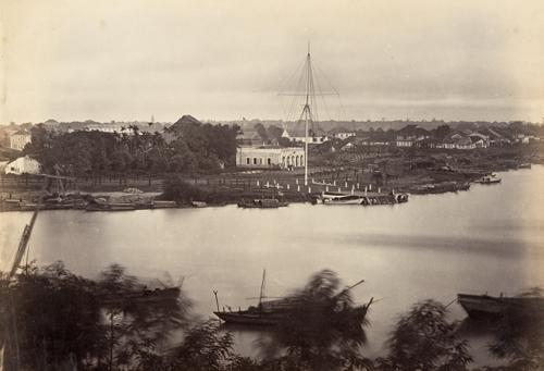 Cột cờ Thủ Ngữ năm 1866, một năm sau khi xây dựng xong. Ảnh tư liệu