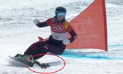 Vận động viên Áo suýt va phải sóc khi tranh tài ở Olympic Mùa đông