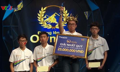 Chu Quang Trường giành chiến thắng tại một trong những cuộc thi quý hay nhất lịch sử Đường lên đỉnh Olympia. Ảnh chụp màn hình