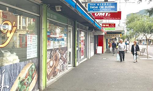 Con phố ở Footscray ít người qua lại. Ảnh: VA.