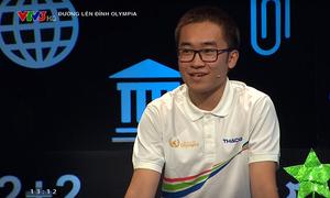 Chu Quang Trường khởi động tại cuộc thi quý II Olympia