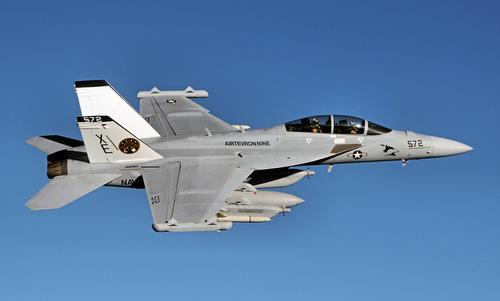 Một chiếc EA-18G thuộc Phi đoàn Thử nghiệm và Đánh giá trên không số 9. Ảnh: US Navy.
