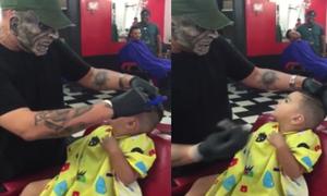 Cách giúp các nhóc tì ngồi im khi cắt tóc
