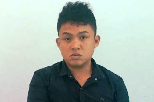 Nguyễn Ngọc Viên tại cơ quan điều tra. Ảnh: Công an TP Kon Tum cung cấp.
