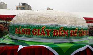 Sầm Sơn dừng làm bánh giầy 3 tấn dâng lễ hội đền Hùng