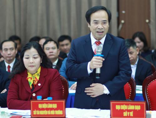 Phó giám đốc Sở Tài nguyên Môi trường Hà Nội Nguyễn Minh Mười. Ảnh: Nguyễn Hùng.