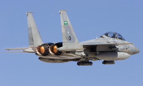 Tiêm kích F-15 của Arab Saudi tham chiến tại Yemen. Ảnh: Airliners.