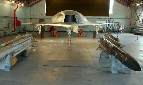 Nguyên mẫu UAV chiến đấu do Nga phát triển. Ảnh: Sputnik.