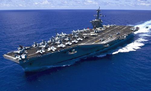 Tàu sân bay MỹUSS Carl Vinson. Ảnh: US Navy