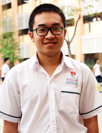 Nam sinh Chu Quang Trường. Ảnh: Mạnh Tùng.