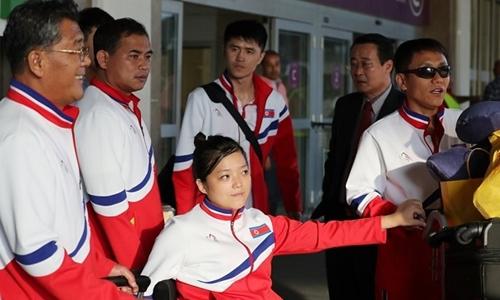 Vận động viên Triều Tiên dự Paralympic mùa hè ở Rio de Janeiro năm 2016. Ảnh: Yonhap.