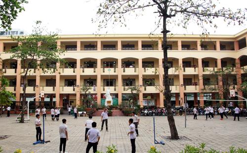 Trường THPT Nguyễn Chí Thanh (quận Tân Bình, TP HCM), nơi Chu Quang Trường theo học. Ảnh: Mạnh Tùng.