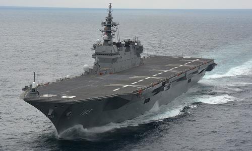 Tàu sân bay trực thăng JS Izumo của Nhật Bản. Ảnh: JMSDF.