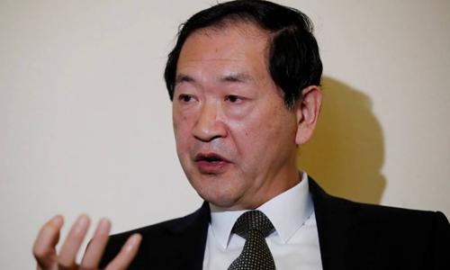 Han Tae-song, phái viên của Triều Tiên về giải giáp vũ khí. Ảnh: Reuters.