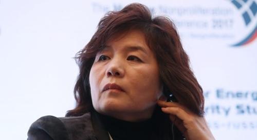 Bà Choe Son-hui, Vụ trưởng Bắc Mỹ, được cho là đã lên chức Thứ trưởng Ngoại giao Triều Tiên. Ảnh: