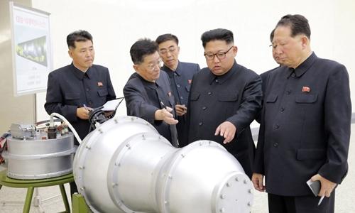 Nhà lãnh đạo Triều Tiên Kim Jong-un trong bức ảnh được công bố vào tháng 9/2017. Ảnh: KCNA.