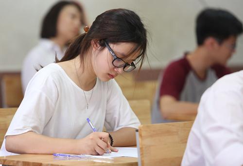Học sinh Hà Nội sẽ làm bài kiểm tra khảo sát như thi THPT quốc gia. Ảnh minh họa: Ngọc Thành.