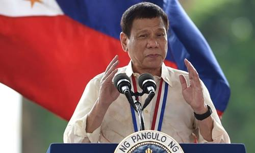 Tổng thốngPhilippines Rodrigo Duterte. Ảnh: AFP.