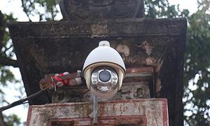 Camera giám sát 360 độ bắt kẻ trộm ở lễ hội đền Trần