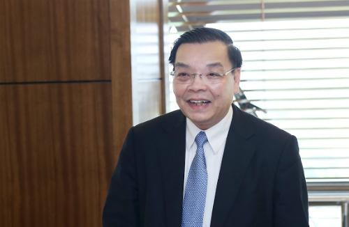Bộ trưởng Khoa học và Công nghệ Chu Ngọc Anh chia sẻ những kết quả khu công nghệ cao Hòa Lạc đạt được trong thời gian qua. Ảnh: T.H