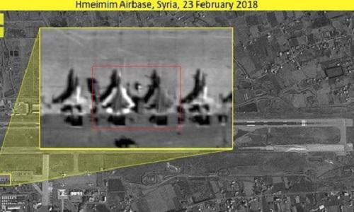 Hình ảnh được cho là tiêm kích Su-57 Nga tại Syria do ISI công bố. Ảnh: ISI.