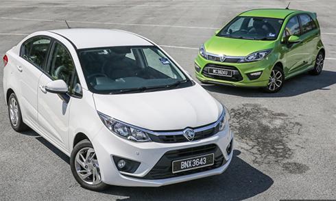 Hai sản phẩm sedan và hatchback của hãng Proton (Malaysia). Ảnh: Paultan.