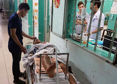 Các nạn nhân đang được điều trị tại bệnh viện 175. Ảnh: Sơn Hoà
