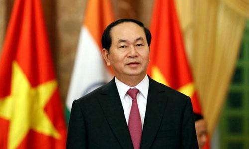 Chủ tịch nước Việt Nam Trần Đại Quang. Ảnh: Reuters.