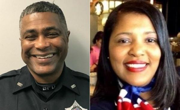 Cảnh sát James Davis Sr. và vợ Diva Jennen Davis, hai nạn nhân vụ nổ súng. Ảnh: