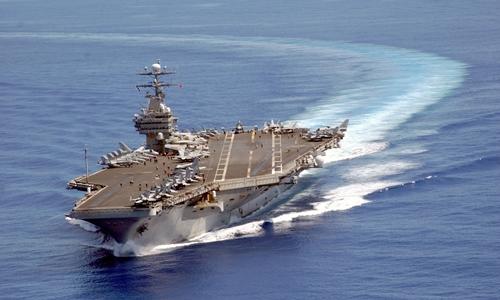 Tàu sân bay Mỹ USS Carl Vinson. Ảnh: US Navy.