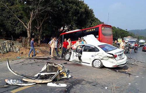 Hiện trường vụ tai nạn. Ảnh: Tùng Nguyễn
