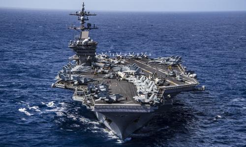 Tàu sân bay USS Carl Vinson hoạt động trên Thái Bình Dương. Ảnh: US Navy.