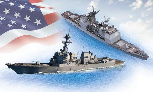 Hai chiến hạm hộ tống USS Carl Vinson thăm Việt Nam. Bấm vào ảnh để xem đầy đủ.