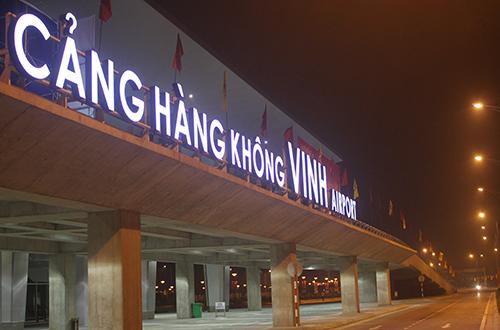 Sân bay Vinh, nơi xảy ra vụ việc. Ảnh: Hải Bình.