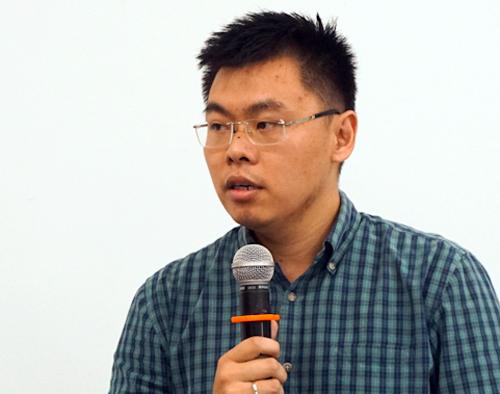 TS Trương Minh Huy Vũ. Ảnh: Tuyết Nguyễn.