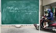 Chở con đi trong giá rét 15km vì nhà trường thông báo nghỉ học quá trễ