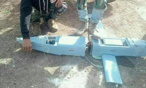 Hình ảnh chiếc Orlan-10 do phiến quân công bố. Ảnh:Almasdar News.