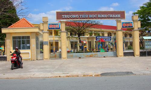 Trường Tiểu học Bình Chánh, nơi xảy ra vụ việc. Ảnh: Hoàng Nam