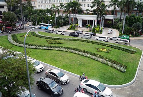 Công viên tại công trường Lam Sơn trước đây là bãi xe khủng. Ảnh: Duy Trần