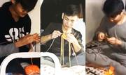 Nam sinh ký túc xá Trung Quốc đan len gây sốt mạng