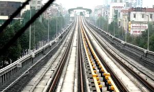 Tàu đường sắt Cát Linh - Hà Đông chạy thử nghiệm 40km/h