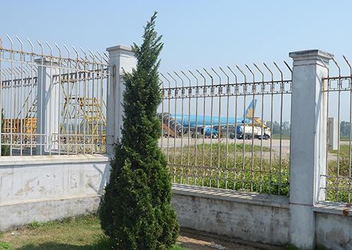 Tường rào khu vựcđược xác định đã bị nam sinh trèo qua hôm 3/3.