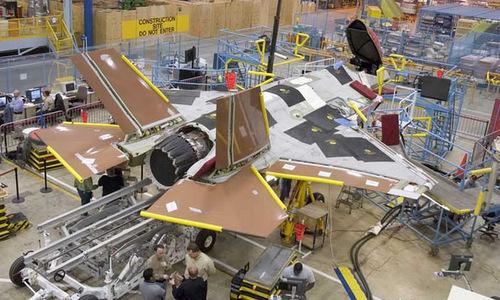 Một chiếc F-35 trong quá trình sản xuất. Ảnh: Lockheed Martin.