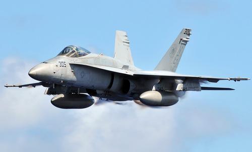 Tiêm kích F/A-18C Hornet của hải quân Mỹ. Ảnh: US Navy.