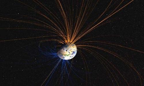 Từ trường bảo vệ Trái Đất trước bức xạ vũ trụ có hại. Ảnh: NASA.