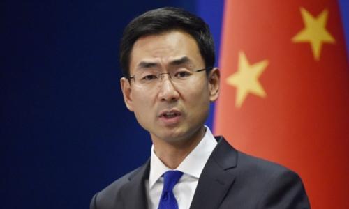 Phát ngôn viên của Bộ Ngoại giao Trung Quốc Cảng Sảnh. Ảnh: Kyodo.