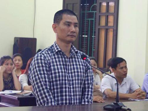 Bị cáo Thái tại tòa. Ảnh: Đ.H