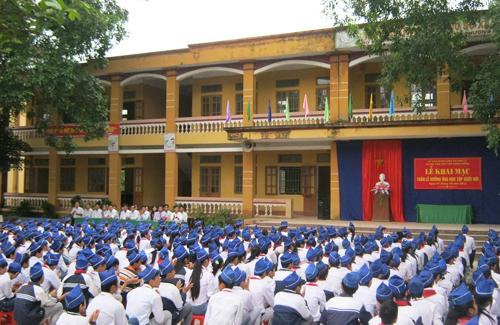 Học sinh trường THCS Hợp Lý, huyện Lý Nhân.