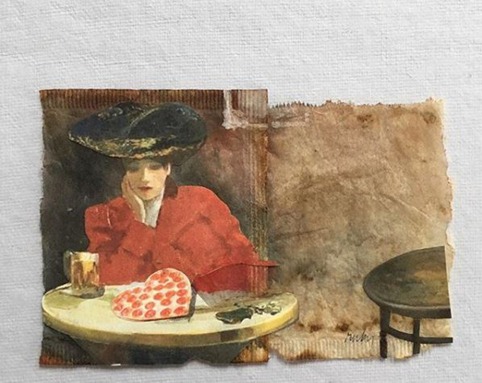 Nữ họa sĩ ở Mỹ biến túi trà bỏ đi thành tranh