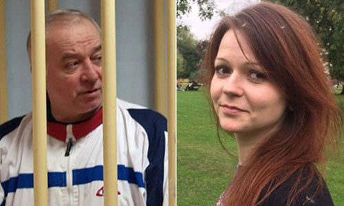 Cựu điệp viên Nga Skripal và con gái. Ảnh: BBC.